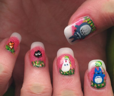 Japanese anime nail art punipunijapan prinsesfo Gallery