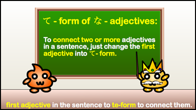 connect na-adjectives
