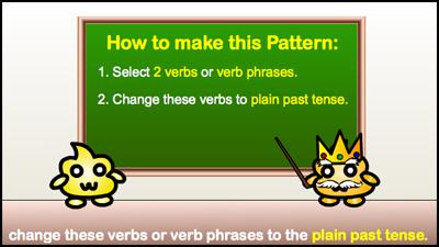 change to plain past tense